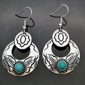 🆕 Turquoise western style earrings 💠